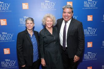 "NEW YORK, NY - SEPTEMBER 18: Film Socielty of Lincoln Center, Lesli Klainberg, Wendy Keys and Eugene Hernandez attend the special screening of Disney's ""Beauty and the Beast"" to celebrate the 25th Anniversary Edition release on Blu-Ray and DVD on September 18, 2016 in New York City. (Photo by Neilson Barnard/Getty Images for Walt Disney Studios Home Entertainment) *** Local Caption *** Lesli Klainberg; Wendy Keys; Eugene Hernandez"