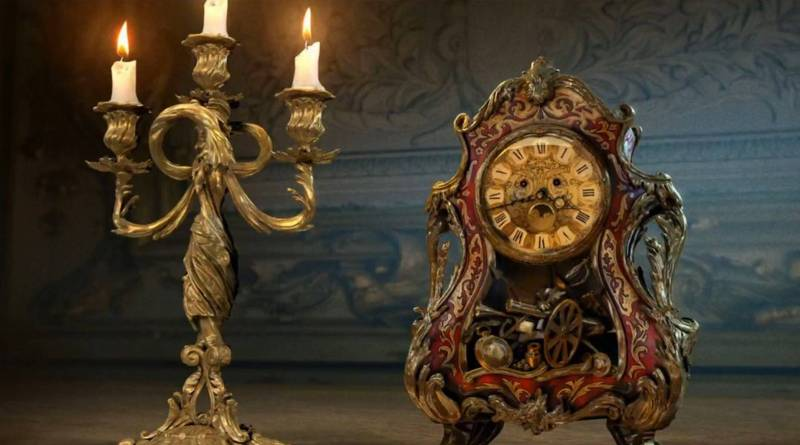 Lumiere & Cogsworth Concept Art - Live-Action Beauty and the Beast