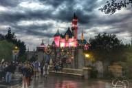 Sleeping Beauty Castle on a Rainy Day at Disneyland!