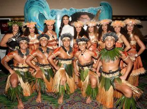 """HOLLYWOOD, CA - NOVEMBER 14: Diamond Langi (C) and performers attend The World Premiere of Disney's """"MOANA"""" at the El Capitan Theatre on Monday, November 14, 2016 in Hollywood, CA. (Photo by Jesse Grant/Getty Images for Disney) *** Local Caption *** Nicole Scherzinger"""