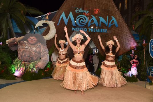 "HOLLYWOOD, CA - NOVEMBER 14: A view of the atmosphere at The World Premiere of Disney's ""MOANA"" at the El Capitan Theatre on Monday, November 14, 2016 in Hollywood, CA. (Photo by Alberto E. Rodriguez/Getty Images for Disney)"
