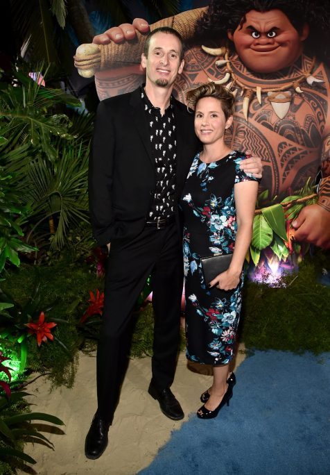 """HOLLYWOOD, CA - NOVEMBER 14: Co-director Chris Williams (L) and guest attend The World Premiere of Disney's """"MOANA"""" at the El Capitan Theatre on Monday, November 14, 2016 in Hollywood, CA. (Photo by Alberto E. Rodriguez/Getty Images for Disney) *** Local Caption *** Chris Williams"""