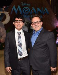 "HOLLYWOOD, CA - NOVEMBER 14: ""Inner Workings"" co-directors Leo Matsuda (L) and Sean Lurie attend The World Premiere of Disney's ""MOANA"" at the El Capitan Theatre on Monday, November 14, 2016 in Hollywood, CA. (Photo by Alberto E. Rodriguez/Getty Images for Disney) *** Local Caption *** Leo Matsuda; Sean Lurie"
