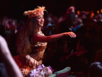 "HOLLYWOOD, CA - NOVEMBER 14: Dancer performs at The World Premiere of Disney's ""MOANA"" at the El Capitan Theatre on Monday, November 14, 2016 in Hollywood, CA. (Photo by Alberto E. Rodriguez/Getty Images for Disney)"