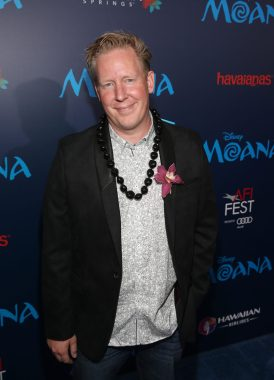 """HOLLYWOOD, CA - NOVEMBER 14: Screenwriter Jared Bush attends The World Premiere of Disney's """"MOANA"""" at the El Capitan Theatre on Monday, November 14, 2016 in Hollywood, CA. (Photo by Jesse Grant/Getty Images for Disney) *** Local Caption *** Jared Bush"""