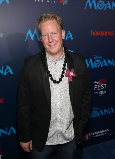 "HOLLYWOOD, CA - NOVEMBER 14: Screenwriter Jared Bush attends The World Premiere of Disney's ""MOANA"" at the El Capitan Theatre on Monday, November 14, 2016 in Hollywood, CA. (Photo by Jesse Grant/Getty Images for Disney) *** Local Caption *** Jared Bush"