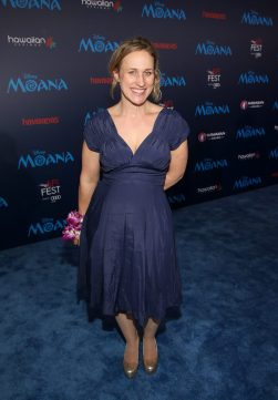 "HOLLYWOOD, CA - NOVEMBER 14: Writer Pamela Ribon attends The World Premiere of Disney's ""MOANA"" at the El Capitan Theatre on Monday, November 14, 2016 in Hollywood, CA. (Photo by Jesse Grant/Getty Images for Disney) *** Local Caption *** Pamela Ribon"