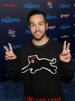 """HOLLYWOOD, CA - NOVEMBER 14: Musician Pete Wentz attends The World Premiere of Disney's """"MOANA"""" at the El Capitan Theatre on Monday, November 14, 2016 in Hollywood, CA. (Photo by Jesse Grant/Getty Images for Disney) *** Local Caption *** Pete Wentz"""