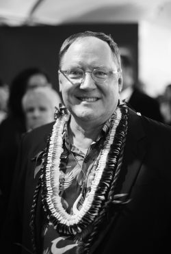 """HOLLYWOOD, CA - NOVEMBER 14: (EDITORS NOTE: Image has been shot in black and white. Color version not available.) Executive producer John Lasseter attends The World Premiere of Disney's """"MOANA"""" at the El Capitan Theatre on Monday, November 14, 2016 in Hollywood, CA. (Photo by Charley Gallay/Getty Images for Disney) *** Local Caption *** John Lasseter"""
