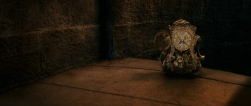 Cogworth the mantel clock in Disney's BEAUTY AND THE BEAST, a live-action adaptation of the studio's animated classic.