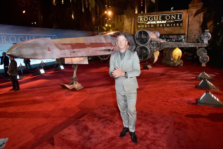 "HOLLYWOOD, CA - DECEMBER 10: Actor Ben Mendelsohn attends The World Premiere of Lucasfilm's highly anticipated, first-ever, standalone Star Wars adventure, ""Rogue One: A Star Wars Story"" at the Pantages Theatre on December 10, 2016 in Hollywood, California. (Photo by Marc Flores/Getty Images for Disney) *** Local Caption *** Ben Mendelsohn"
