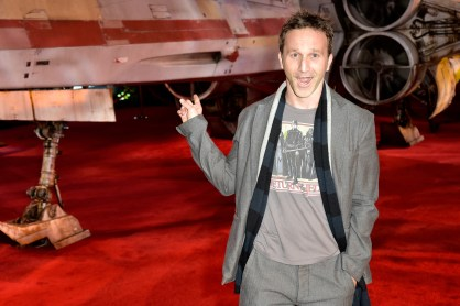 """HOLLYWOOD, CA - DECEMBER 10: Actor Breckin Meyer attends The World Premiere of Lucasfilm's highly anticipated, first-ever, standalone Star Wars adventure, """"Rogue One: A Star Wars Story"""" at the Pantages Theatre on December 10, 2016 in Hollywood, California. (Photo by Marc Flores/Getty Images for Disney) *** Local Caption *** Breckin Meyer"""