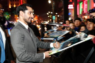"""HOLLYWOOD, CA - DECEMBER 10: Actor Riz Ahmed attends The World Premiere of Lucasfilm's highly anticipated, first-ever, standalone Star Wars adventure, """"Rogue One: A Star Wars Story"""" at the Pantages Theatre on December 10, 2016 in Hollywood, California. (Photo by Rich Polk/Getty Images for Disney) *** Local Caption *** Riz Ahmed"""