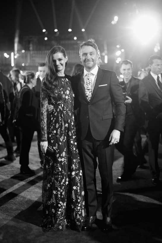 "HOLLYWOOD, CA - DECEMBER 10: Model Lydia Hearst and comedian Chris Hardwick attend The World Premiere of Lucasfilm's highly anticipated, first-ever, standalone Star Wars adventure, ""Rogue One: A Star Wars Story"" at the Pantages Theatre on December 10, 2016 in Hollywood, California. (Photo by Charley Gallay/Getty Images for Disney) *** Local Caption *** Lydia Hearst; Chris Hardwick"