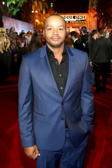 """HOLLYWOOD, CA - DECEMBER 10: Actor Donald Faison attends The World Premiere of Lucasfilm's highly anticipated, first-ever, standalone Star Wars adventure, """"Rogue One: A Star Wars Story"""" at the Pantages Theatre on December 10, 2016 in Hollywood, California. (Photo by Jesse Grant/Getty Images for Disney) *** Local Caption *** Donald Faison"""