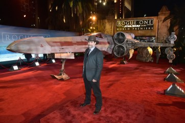 "HOLLYWOOD, CA - DECEMBER 10: Animator/director Dave Filoni attends The World Premiere of Lucasfilm's highly anticipated, first-ever, standalone Star Wars adventure, ""Rogue One: A Star Wars Story"" at the Pantages Theatre on December 10, 2016 in Hollywood, California. (Photo by Marc Flores/Getty Images for Disney) *** Local Caption *** Dave Filoni"