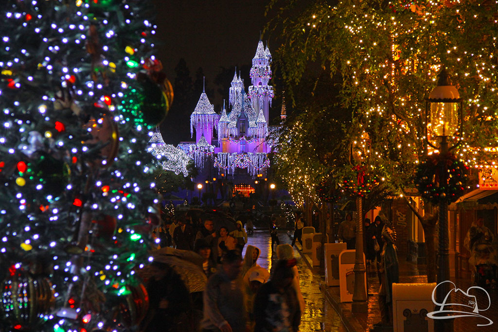 Sleeping Beauty Castle - Disneyland Holiday Time - Christmas