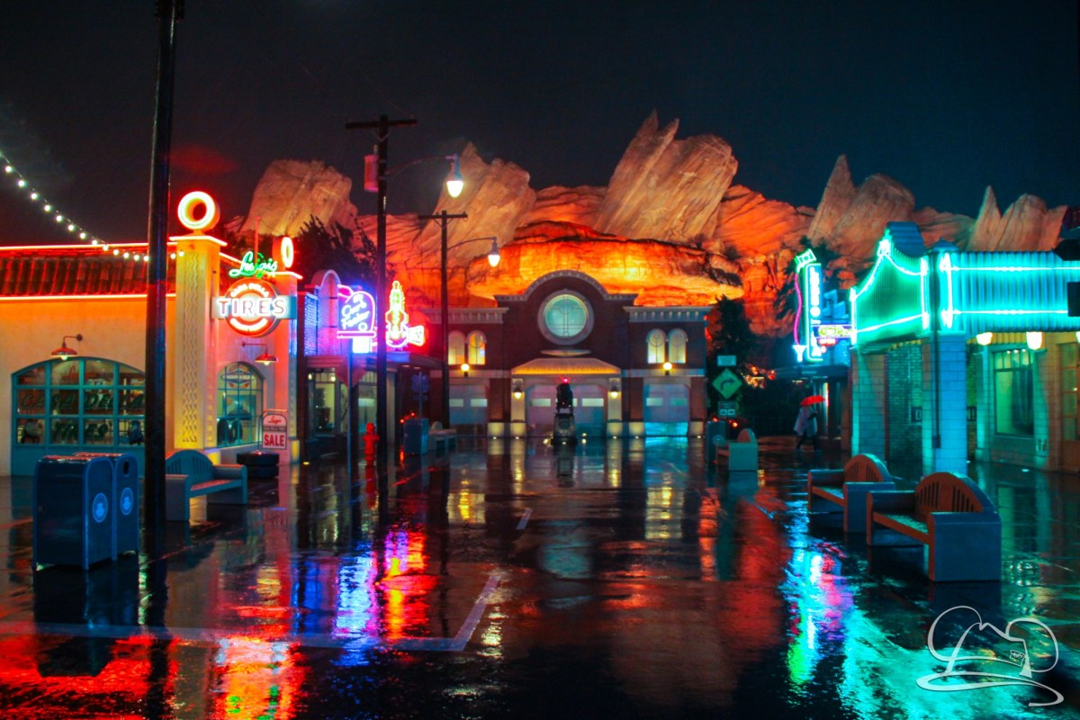 A Very Rainy Day at the Disneyland Resort