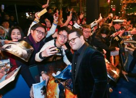 Josh Gad attended the China Premiere of Beauty and the Beast in Shanghai.
