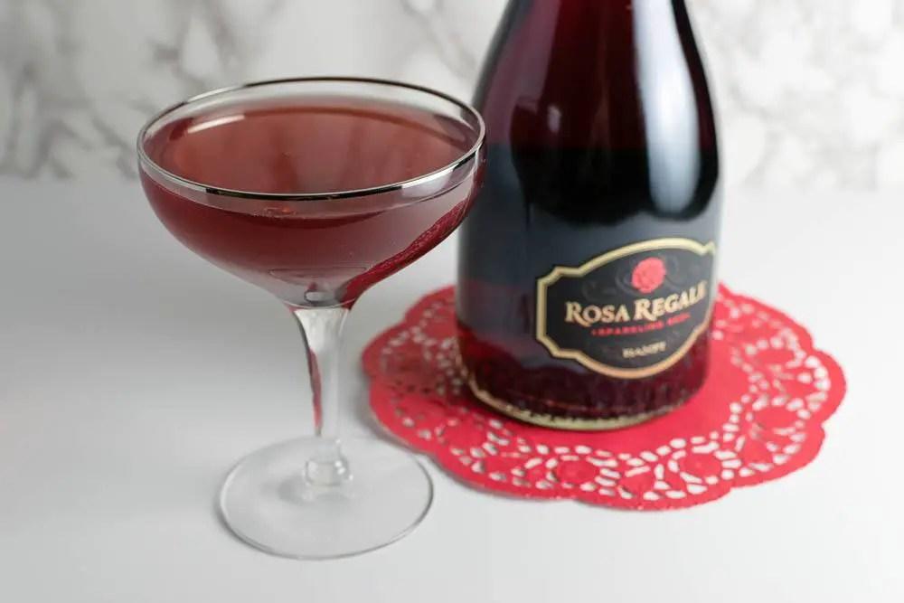 The Honeymooner Cocktail Featuring Rosa Regale