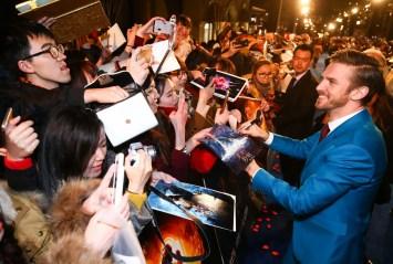 Dan Stevens attended the China Premiere in Shanghai