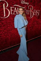 """Celine Dion arrives for the world premiere of Disney's live-action """"Beauty and the Beast"""" at the El Capitan Theatre in Hollywood as the cast and filmmakers continue their worldwide publicity tour. (Photo: Alex J. Berliner/ABImages)"""