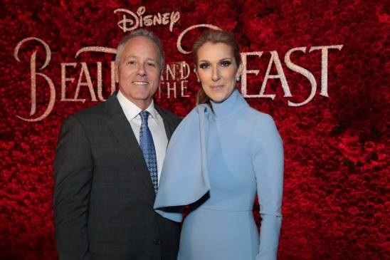 """David Hoberman and Celine Dion arrive for the world premiere of Disney's live-action """"Beauty and the Beast"""" at the El Capitan Theatre in Hollywood as the cast and filmmakers continue their worldwide publicity tour. (Photo: Alex J. Berliner/ABImages)"""