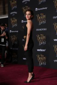 """Emma Watson arrives for the world premiere of Disney's live-action """"Beauty and the Beast"""" at the El Capitan Theatre in Hollywood as the cast and filmmakers continue their worldwide publicity tour. (Photo: Alex J. Berliner/ABImages)"""