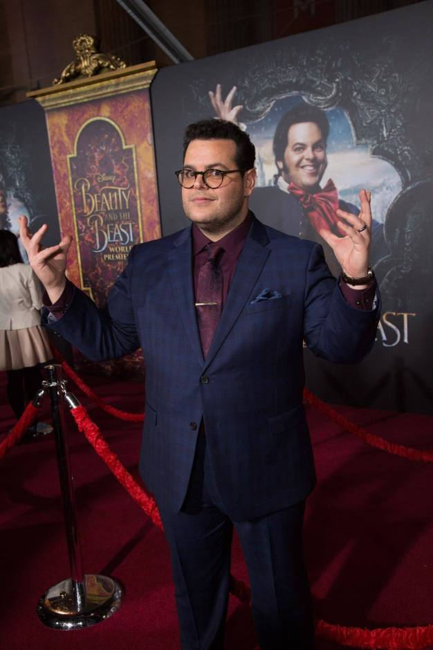"""Josh Gad arrives for the world premiere of Disney's live-action """"Beauty and the Beast"""" at the El Capitan Theatre in Hollywood as the cast and filmmakers continue their worldwide publicity tour. .(Photo: Alex J. Berliner/ABImages)"""
