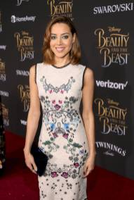 """LOS ANGELES, CA - MARCH 02: Actress Aubrey Plaza arrives for the world premiere of Disney's live-action """"Beauty and the Beast"""" at the El Capitan Theatre in Hollywood as the cast and filmmakers continue their worldwide publicity tour on March 2, 2017 in Los Angeles, California. (Photo by Jesse Grant/Getty Images for Disney) *** Local Caption *** Aubrey Plaza"""