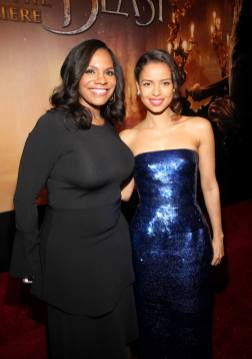 """LOS ANGELES, CA - MARCH 02: Actresses Audra McDonald and Gugu Mbatha-Raw arrive for the world premiere of Disney's live-action """"Beauty and the Beast"""" at the El Capitan Theatre in Hollywood as the cast and filmmakers continue their worldwide publicity tour on March 2, 2017 in Los Angeles, California. (Photo by Jesse Grant/Getty Images for Disney) *** Local Caption *** Audra McDonald; Gugu Mbatha-Raw"""