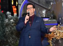 "LOS ANGELES, CA - MARCH 02: Actor Josh Gad performs at the world premiere of Disney's live-action ""Beauty and the Beast"" at the El Capitan Theatre in Hollywood as the cast and filmmakers continue their worldwide publicity tour on March 2, 2017 in Los Angeles, California. (Photo by Alberto E. Rodriguez/Getty Images for Disney) *** Local Caption *** Josh Gad"