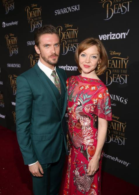 "LOS ANGELES, CA - MARCH 02: Actor Dan Stevens (L) and dancer Susie Hariet arrive for the world premiere of Disney's live-action ""Beauty and the Beast"" at the El Capitan Theatre in Hollywood as the cast and filmmakers continue their worldwide publicity tour on March 2, 2017 in Los Angeles, California. (Photo by Jesse Grant/Getty Images for Disney) *** Local Caption *** Dan Stevens; Susie Hariet"