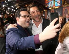 """LOS ANGELES, CA - MARCH 02: Actors Josh Gad (L) and Javier Bardem arrive for the world premiere of Disney's live-action """"Beauty and the Beast"""" at the El Capitan Theatre in Hollywood as the cast and filmmakers continue their worldwide publicity tour on March 2, 2017 in Los Angeles, California. (Photo by Jesse Grant/Getty Images for Disney) *** Local Caption *** Josh Gad; Javier Bardem"""