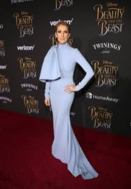 """LOS ANGELES, CA - MARCH 02: Singer Celine Dion arrives for the world premiere of Disney's live-action """"Beauty and the Beast"""" at the El Capitan Theatre in Hollywood as the cast and filmmakers continue their worldwide publicity tour on March 2, 2017 in Los Angeles, California. (Photo by Jesse Grant/Getty Images for Disney) *** Local Caption *** Celine Dion"""