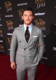 "LOS ANGELES, CA - MARCH 02: Actor Luke Evans arrives for the world premiere of Disney's live-action ""Beauty and the Beast"" at the El Capitan Theatre in Hollywood as the cast and filmmakers continue their worldwide publicity tour on March 2, 2017 in Los Angeles, California. (Photo by Jesse Grant/Getty Images for Disney) *** Local Caption *** Luke Evans"