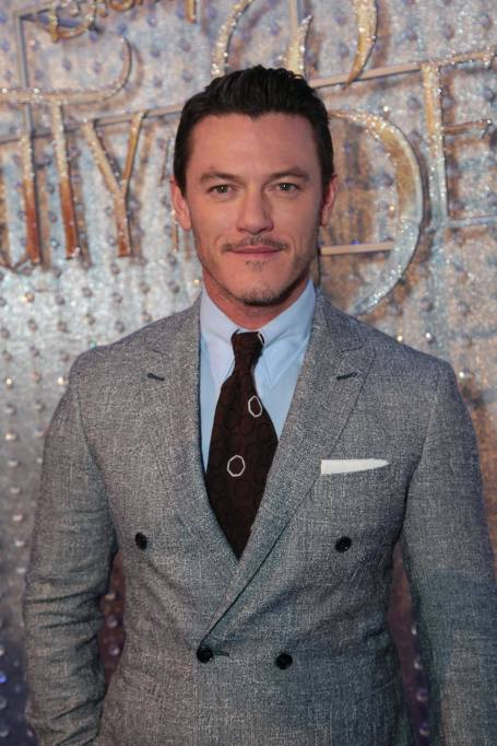 "Luke Evans arrives for the world premiere of Disney's live-action ""Beauty and the Beast"" at the El Capitan Theatre in Hollywood as the cast and filmmakers continue their worldwide publicity tour. (Photo: Alex J. Berliner/ABImages)"