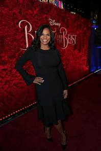 """Audra McDonald arrives for the world premiere of Disney's live-action """"Beauty and the Beast"""" at the El Capitan Theatre in Hollywood as the cast and filmmakers continue their worldwide publicity tour. (Photo: Alex J. Berliner/ABImages)"""
