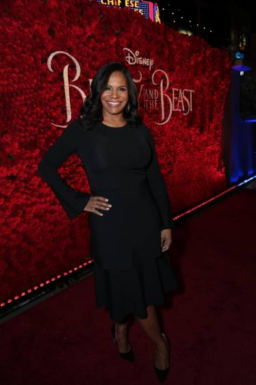 "Audra McDonald arrives for the world premiere of Disney's live-action ""Beauty and the Beast"" at the El Capitan Theatre in Hollywood as the cast and filmmakers continue their worldwide publicity tour. (Photo: Alex J. Berliner/ABImages)"