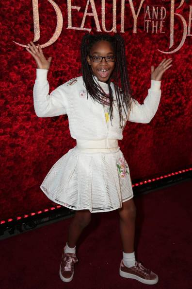 "Marsai Martin arrives for the world premiere of Disney's live-action ""Beauty and the Beast"" at the El Capitan Theatre in Hollywood as the cast and filmmakers continue their worldwide publicity tour. (Photo: Alex J. Berliner/ABImages)"