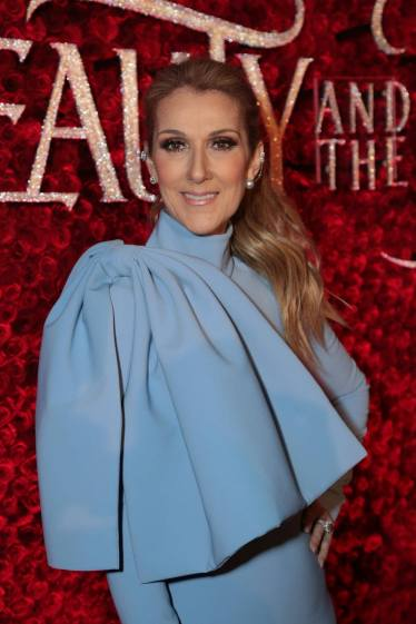 "Celine Dion arrives for the world premiere of Disney's live-action ""Beauty and the Beast"" at the El Capitan Theatre in Hollywood as the cast and filmmakers continue their worldwide publicity tour. (Photo: Alex J. Berliner/ABImages)"