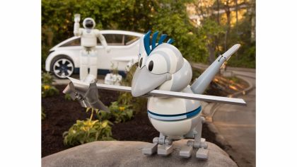 Meet ASIMO's new friend Bird at Disneyland in Tomorrowland on Autopia
