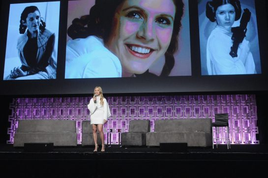 ORLANDO, FL - APRIL 13: Billie Lourd attends the 40 YEARS OF STAR WARS PANEL during the 2017 STAR WARS CELEBRATION at Orange County Convention Center on April 13, 2017 in Orlando, Florida. (Photo by Gerardo Mora/Getty Images for Disney)