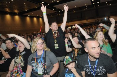 ORLANDO, FL - APRIL 13: STAR WARS fans attend the 40 YEARS OF STAR WARS PANEL during the 2017 STAR WARS CELEBRATION at Orange County Convention Center on April 13, 2017 in Orlando, Florida. (Photo by Gerardo Mora/Getty Images for Disney)
