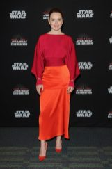 ORLANDO, FL - APRIL 14: Daisy Ridley attends the STAR WARS: THE LAST JEDI PANEL during the 2017 STAR WARS CELEBRATION at Orange County Convention Center on April 14, 2017 in Orlando, Florida. (Photo by Gerardo Mora/Getty Images for Disney) *** Local Caption *** Daisy Ridley