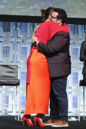 ORLANDO, FL - APRIL 14: Daisy Ridley and Josh Gad attend the STAR WARS: THE LAST JEDI PANEL during the 2017 STAR WARS CELEBRATION at Orange County Convention Center on April 14, 2017 in Orlando, Florida. (Photo by Gerardo Mora/Getty Images for Disney) *** Local Caption *** Daisy Ridley;Josh Gad