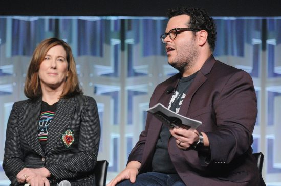ORLANDO, FL - APRIL 14: Kathleen Kennedy and Josh Gad attend the STAR WARS: THE LAST JEDI PANEL during the 2017 STAR WARS CELEBRATION at Orange County Convention Center on April 14, 2017 in Orlando, Florida. (Photo by Gerardo Mora/Getty Images for Disney) *** Local Caption *** Kathleen Kennedy;Josh Gad