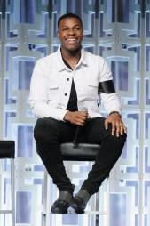 ORLANDO, FL - APRIL 14: John Boyega attends the STAR WARS: THE LAST JEDI PANEL during the 2017 STAR WARS CELEBRATION at Orange County Convention Center on April 14, 2017 in Orlando, Florida. (Photo by Gerardo Mora/Getty Images for Disney) *** Local Caption *** John Boyega