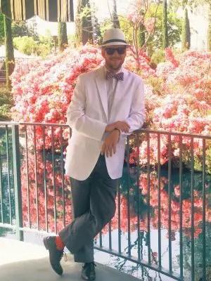 Mr. DAPs on Dapper Day at Disneyland