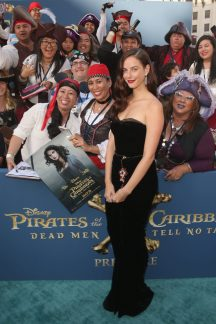 """HOLLYWOOD, CA - MAY 18: Actor Kaya Scodelario at the Premiere of Disney's and Jerry Bruckheimer Films' """"Pirates of the Caribbean: Dead Men Tell No Tales,"""" at the Dolby Theatre in Hollywood, CA with Johnny Depp as the one-and-only Captain Jack in a rollicking new tale of the high seas infused with the elements of fantasy, humor and action that have resulted in an international phenomenon for the past 13 years. May 18, 2017 in Hollywood, California. (Photo by Jesse Grant/Getty Images for Disney) *** Local Caption *** Kaya Scodelario"""